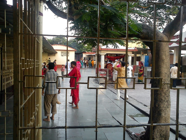 View from Inside the Queue at Kamakhya Temple Complex