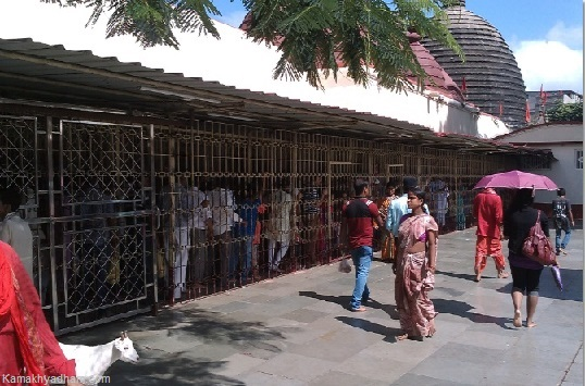 People Waiting in Queue inside Kamakhya Temple