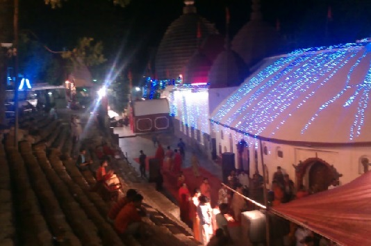 View of Kamakhya Temple at Night Time